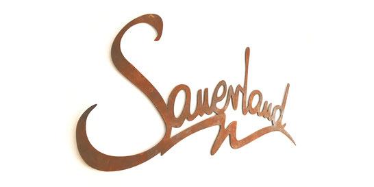 Sauerland Wandbild aus Metall