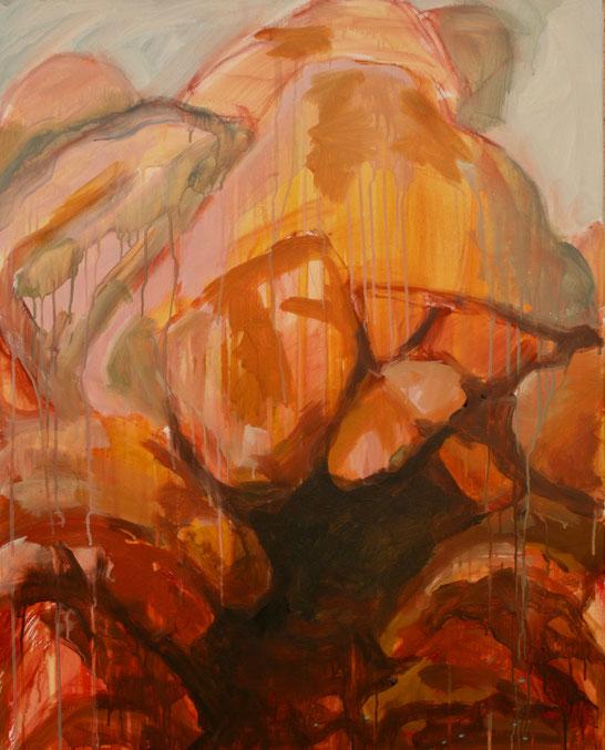 Rochers, 2017 Acryl auf Leinwand 100x80