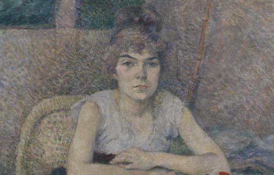 トゥールズ・ロートレック「テーブルにかける若い女性」(1887年)