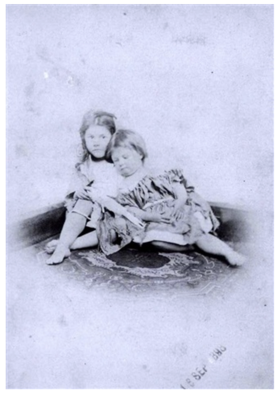 Beggar-children, Beatrice and Ethel Hatch , 1872