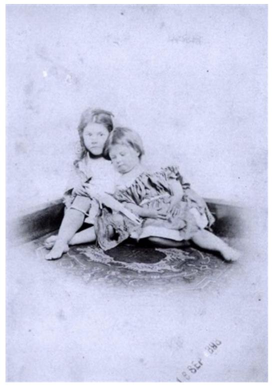 Beggar-children, Beatrice and Ethel Hatch , 1872