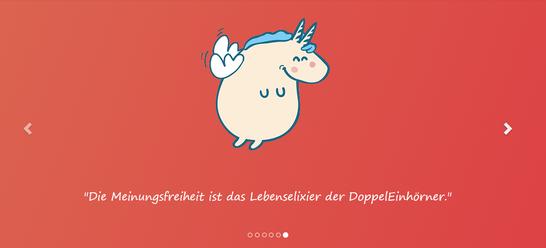 Screenshot von der Webseite www.doppeleinhorn.org