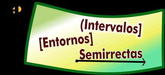 intervalos, entornos semirrectas