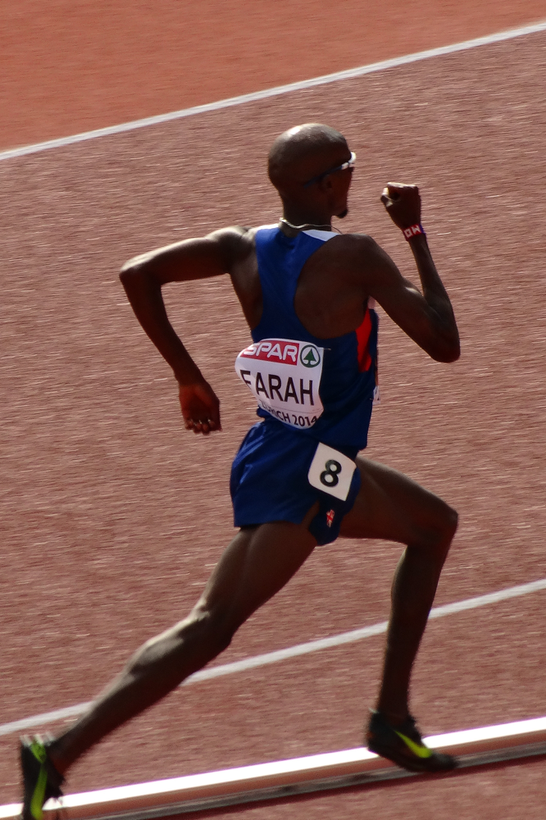 Mo Farah UK 5000m , 4 Olympia Gold, 5 Times Worldchampion, 5 Times European Champion, Picture taken during European Championship in Zurich, where he won the Race