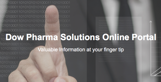 Dow Pharma Solutions Online Portal