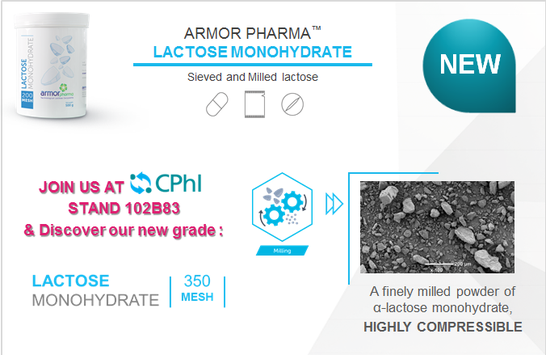 Lactose Monohydrate 350M highly compressible for granulation