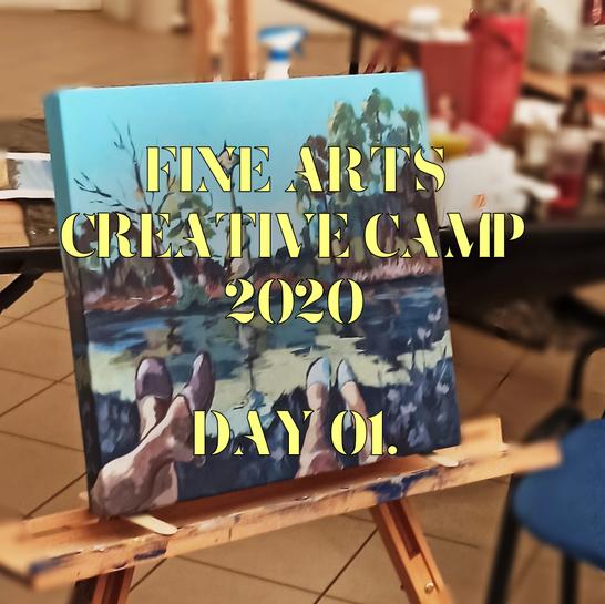 Rita Galambos, fine arts creative camp, alkotótábor, képzőművészet, kortársfestő, modern festészet, magyar művész, Galambos Rita workshop, Hegyháti képzőművészeti tábor 2020