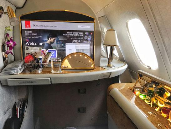 First Class Suite Dubai nach Hongkong
