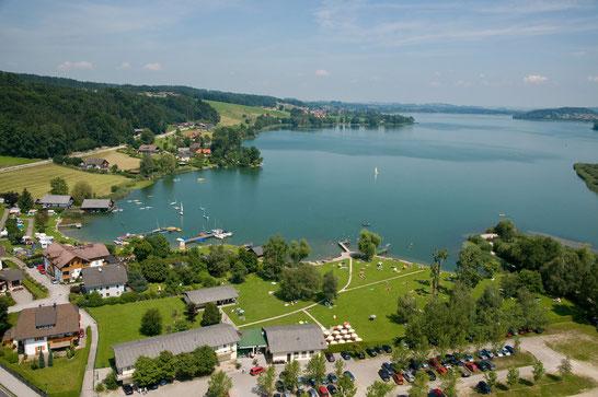 Obertrum am See - Staffl-Bucht - Camping, Strandbad, Ferienwohnung