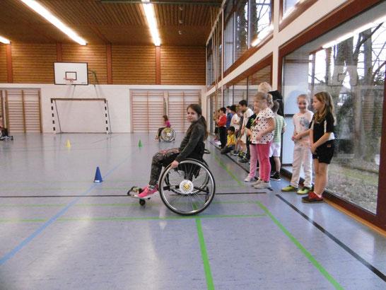 In der Turnhalle der Mietersheimer Grundschule