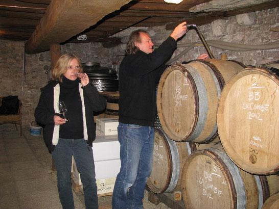 caveau de dégustation à Puligny-Montrachet