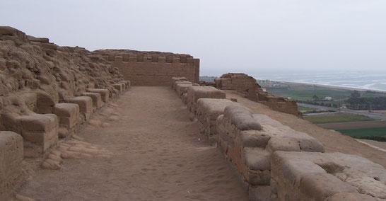 Besuch der Ruinen Pachacamac bei Lima, Peru