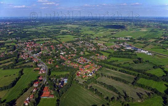 Die Ortschaft Ihlow-Westerende im Juni 2016