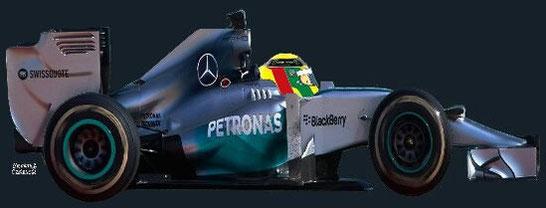 Lewis Hamilton by Muneta & Cerracín - Mercedes AMG Petronas F1 Team Mercedes F1 W05 Mercedes PU106A V6