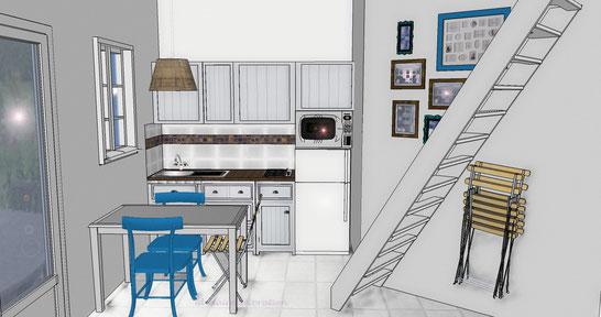 projet agencement de la cuisine