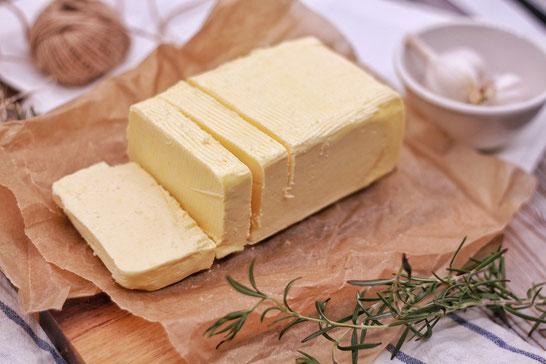 Geschnittene Butter.