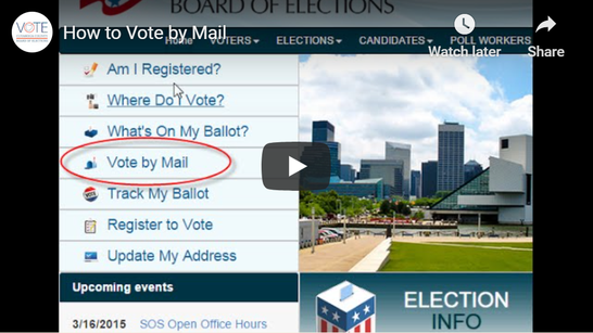"Advertisement on ""How to Vote by Mail"" done by the Cuyahoga County Board of Elections."