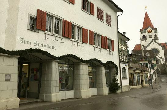 """das """"Steinhaus"""" am Rathausplatz"""