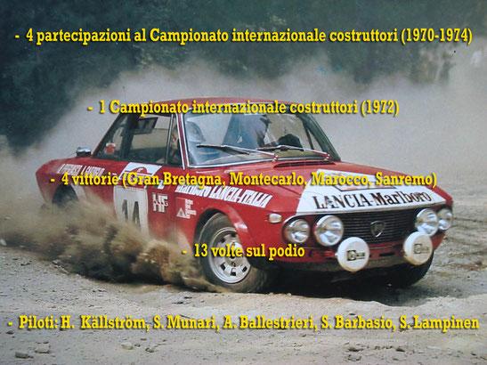 lancia fulvia marlboro munari mannucci  palmares world rally champion campione del mondo