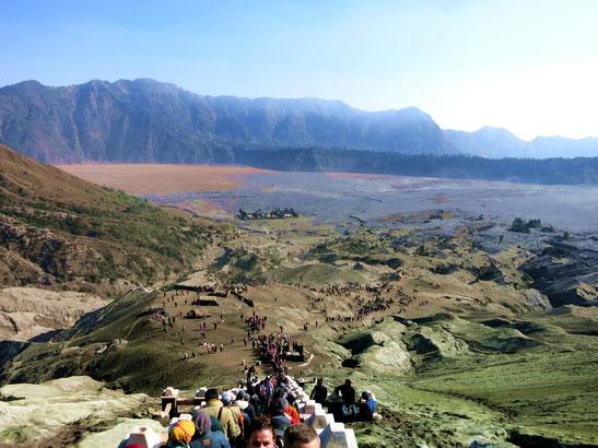 Blick vom Vulkan Bromo auf Java