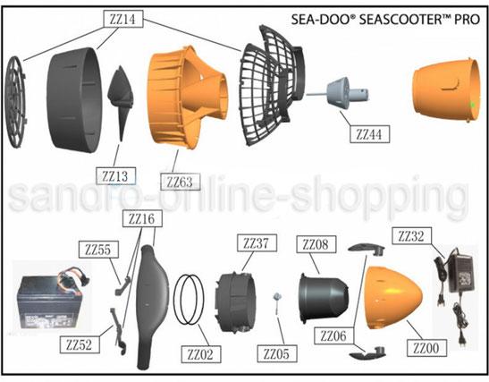 scooter subaqueo +sea-doo +seascooter +ricambi +batteria