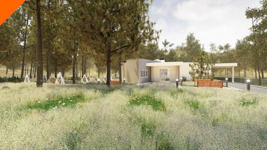 Realidad Virtual para proyectos de arquitectura. Cementerio de mascotas para Parcemasa en Malaga.