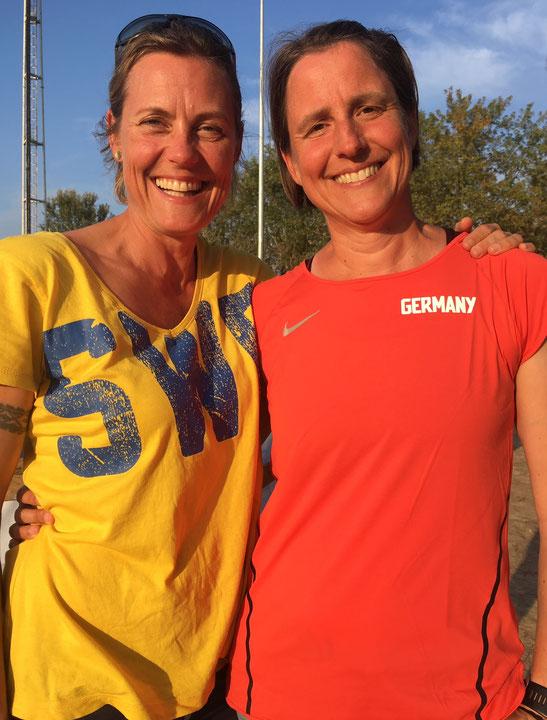Bettina Schardt (rechts) mit Anna Ek aus Schweden.