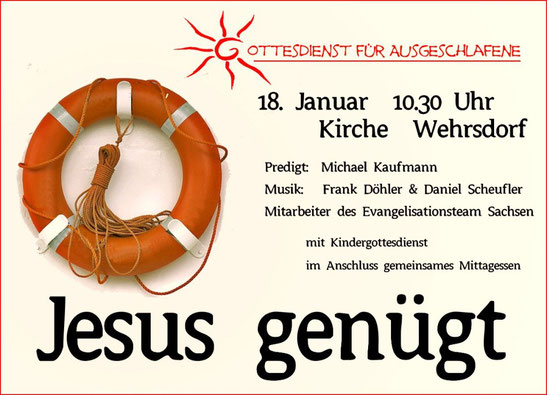 Plakat Jesus genügt