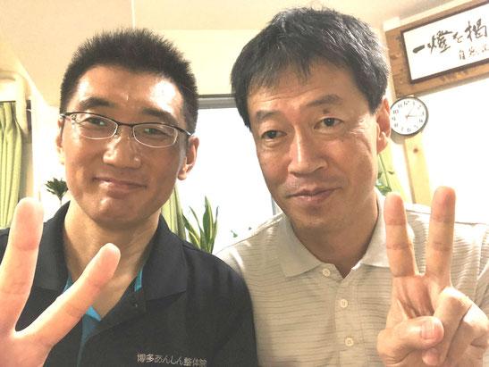 長崎からお見えになる患者様、福岡に来るたびに当院をご利用いただいています。