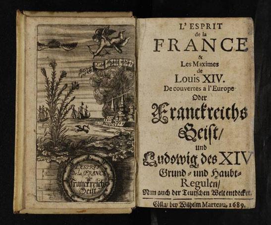 """Publizistische Reaktion, 1689: Anonyme Autoren """"enthüllen"""" Franckreichs Geist -  vielsprachig und variantenreich"""