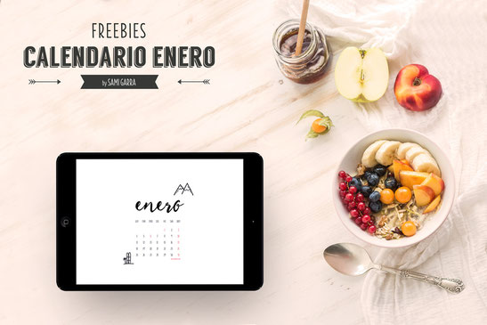 Freebies de Calendaro: ENERO by Sami Garra