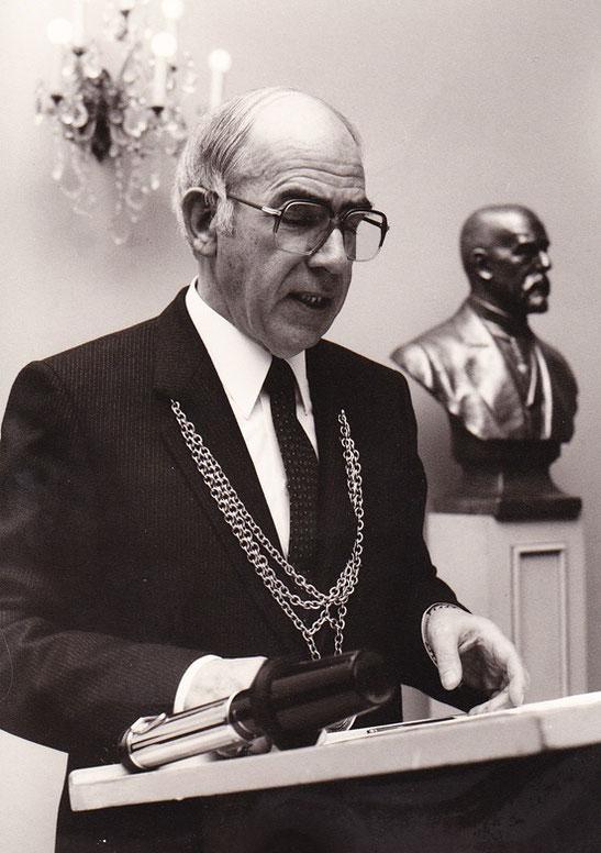 Prof. Dr. Franz Böckle als Rektor der Universität Bonn (Foto: Archiv Uni Bonn)