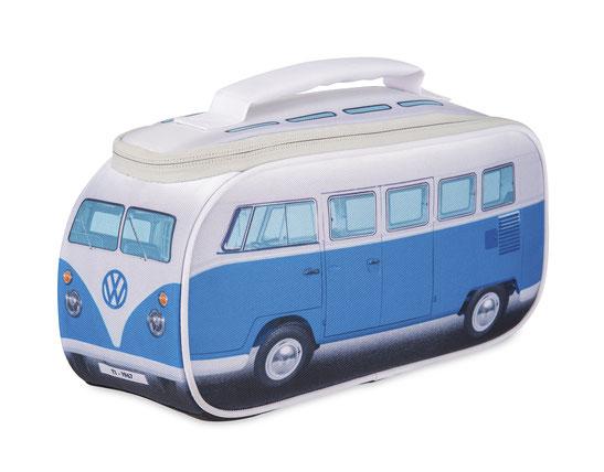 VW,Bulli, Bus,T1, Kühltasche, Brotzeittasche,blau,Isoliertasche, Kühlakku