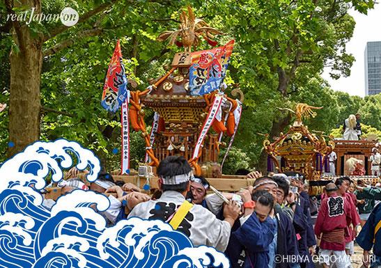 日比谷大江戸まつり, hibiyaoedomatsuri2019, Water Festival, お祭りパレード, 水掛け祭りを実施