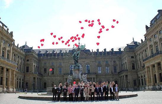 Ballon-Weitflug Residenz Würzburg