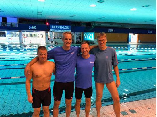 Sven Jilsoe, Peter Gerke, Andreas Keller und Carsten Riege vor dem Start