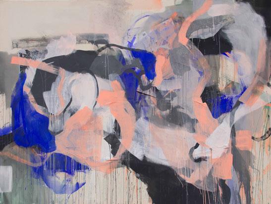 Malerei abstrahiert Lotusblumen-Teich