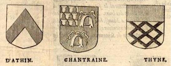 """Extrait de l'ouvrage """"Miroir des nobles de Hasbaye, composée en forme de chronique..."""" par Jacques DE HEMRICOURT, 1673"""