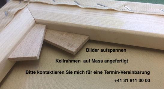 Bild einrahmen lassen; Keilrahmen mit Leinwand aus Schweizer-Fabrikation