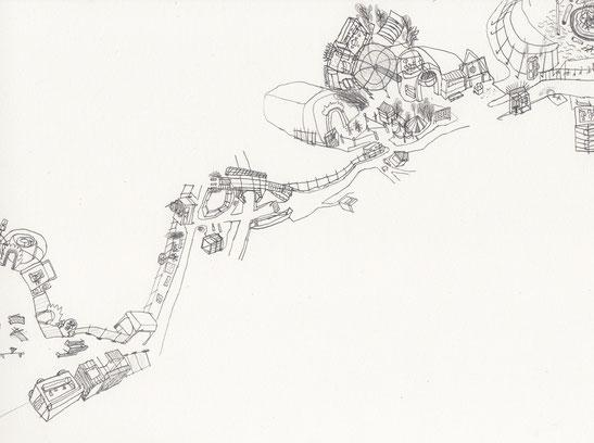 Fusion Lärz . 2014 . Bleistift auf Papier . 60 x 84 cm . Detail