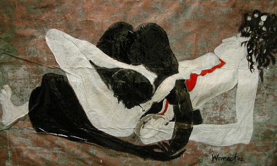 Liebesspiel 2o2 (Öl auf Kupferfolie, 130 x 210 cm)