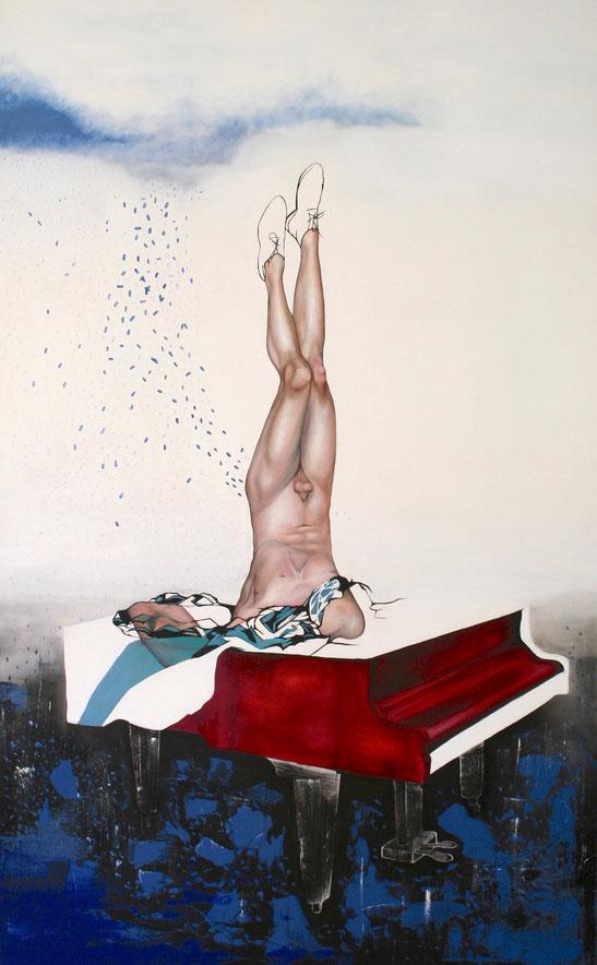 Truvada Bitch, 2017, Öl, Leinwand, 250 x 155 cm