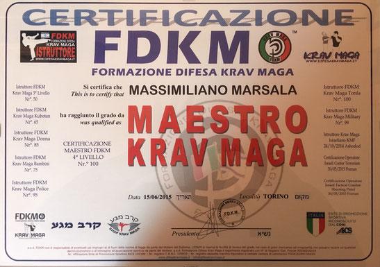 massimiliano marsala maestro krav maga fdkm