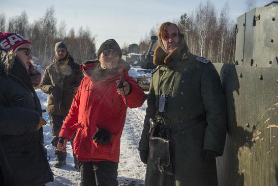 Beim Dreh zu Aviator mit Regisseur Renat Davletyarov