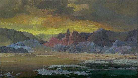 """Martin Guido Becker, """"Eismeer"""", 2010, Öl/Lwd, 90/140 cm"""