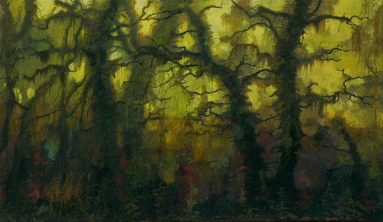 """Martin Guido Becker """"Waldstück"""", 2011, Öl/Lwd, 80/100 cm"""