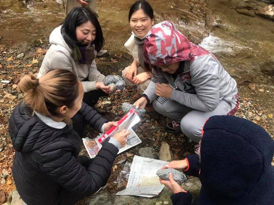 山の瞑想会in大山での焼き芋作り