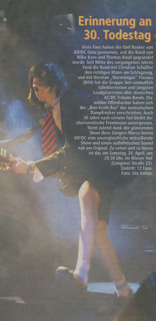 Offenbach Post, 21.04. 2010