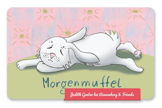 Mitbringsel Frühstücksbrettchen - Hase müde - Morgenmuffel - Judith Ganter Illustration und Spruch - bei Rannenberg & Friends
