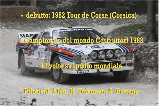 lancia 037 world rally championship campione del mondo palmares